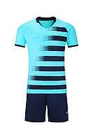 Футбольная форма Europaw (черно-синяя) 021, фото 1