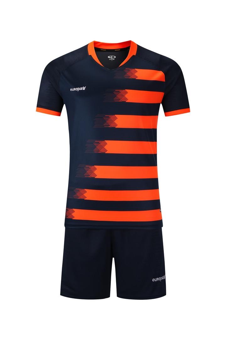 Футбольная форма Europaw (темно сине-оранжевая) 021
