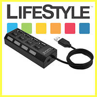 Разветвитель USB HUB 4SW с подсветкой