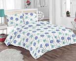 Лоскут ткани с цветочными одуванчиками голубого цвета  № 702а, фото 5