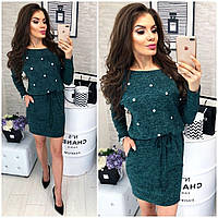 Женское платье до колен ангора р42-48