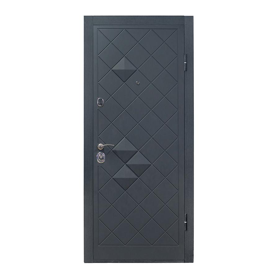 Дверь входная П-3K-112 V Графит декор 3D Vinorit