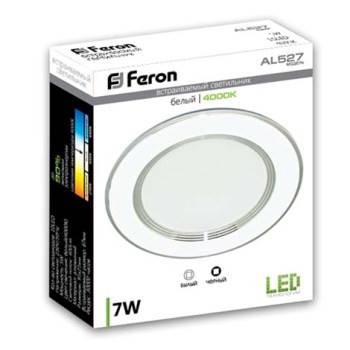 Светодиодная панель Feron AL 527 7W 4000K кругл. белый  Код.58118, фото 2