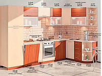 "Кухня Софт ""КХ-84"" (3,2х1,7м)(Комфорт)"