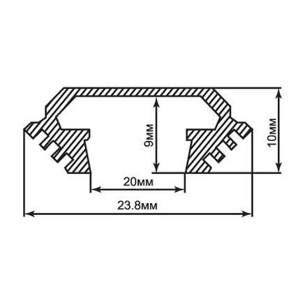 Алюминиевый профиль для светодиодной ленты накладной Feron CAB272 (2 метра), фото 2