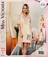 Женская пижама хлопок Miss Victoria Турция размер XL(48) 61102 397fddb74aceb