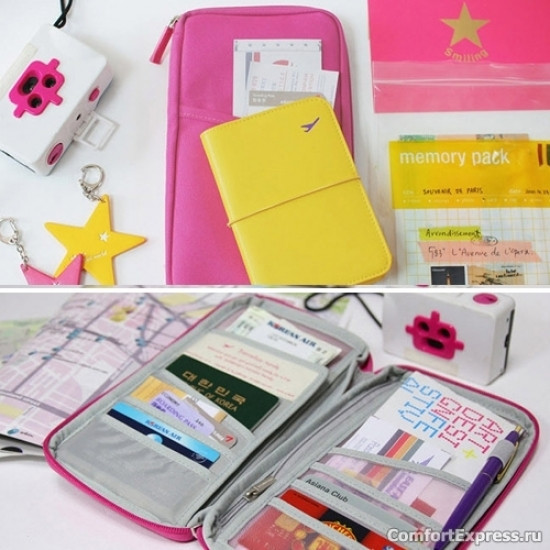 Органайзер для путешествий дорожный авиа розовый, Органайзеры для путешествий , Органайзер для подорожей дорожній авіа рожевий