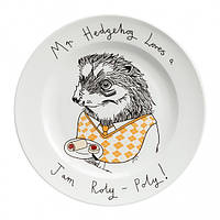 Тарелка Ежик сладкоежка, Оригинальные тарелки, Оригінальні тарілки, Тарілка Їжачок ласунка
