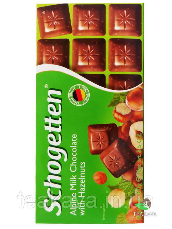 Шоколад Schogetten Alpine Milk Chocolate with Hazelnuts