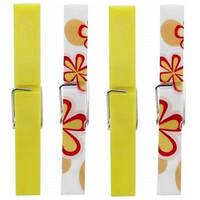 Прищепки, набор 10 штук, желтый/разноцветный