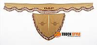 Ламбрекен на лобовое скло + 2 угокли Daf Даф ( ламбрекены, шторы в кабину)