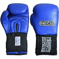 Боксерские перчатки для соревнований RING TO CAGE RCAFGUSA 10 унций, синий