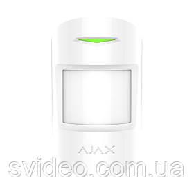 Ajax MotionProtect Plus white Беспроводной датчик движения с микроволновым сенсором