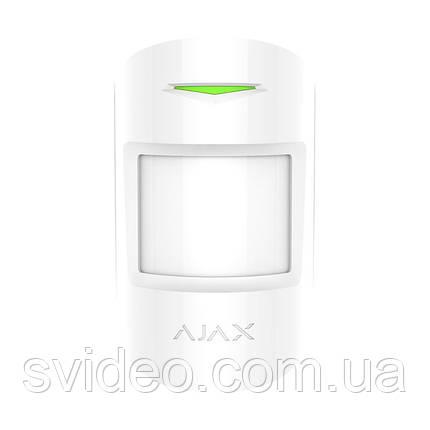 Ajax MotionProtect Plus white Беспроводной датчик движения с микроволновым сенсором  , фото 2