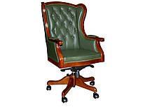 Кресло Брайтон кожа т.-зеленая