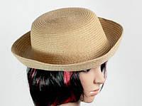 Соломенная шляпа Котелок 27 см коричневый, Солом'яний капелюх Казанок 27 см коричневий, Соломенные шляпы