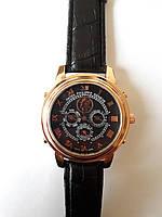 Часы Patek Philippe Sky Moon Tourbillon Gold (кварцевые Патек скаймун) черные