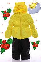 """Демисезонный костюм  модель """"Крошка""""  желтый  однотонный, фото 1"""