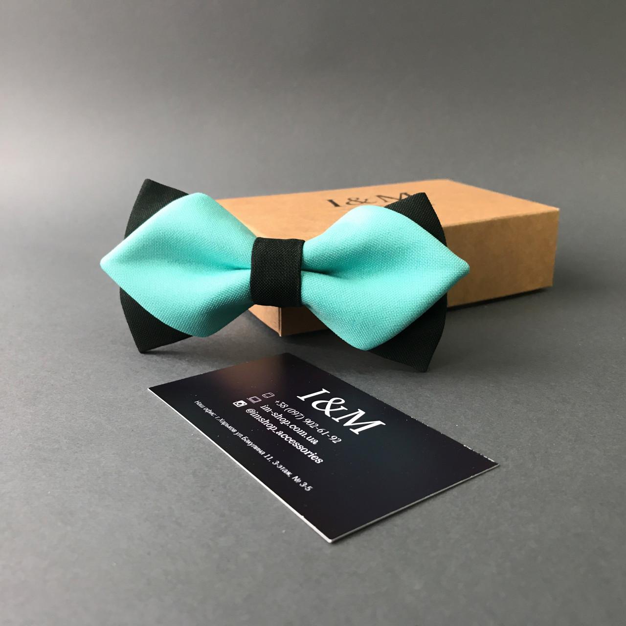 Галстук-бабочка I&M Craft с острыми концами мятный  (100115N)