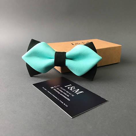 Галстук-бабочка I&M Craft с острыми концами мятный  (100115N), фото 2