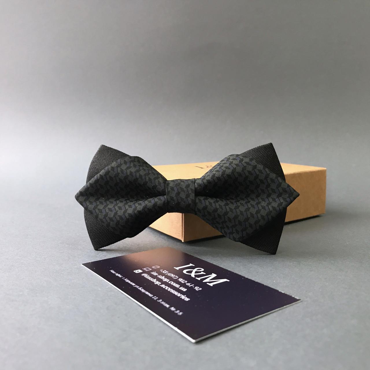 """Краватка-метелик I&M Craft з гострими кінцями """"Hugo boss"""" (100139N)"""