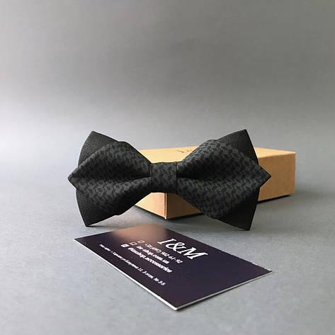 """Краватка-метелик I&M Craft з гострими кінцями """"Hugo boss"""" (100139N), фото 2"""