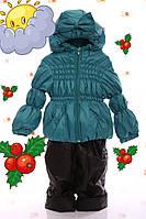 """Демисезонный костюм  модель """"Крошка""""   однотонный  зеленый, фото 1"""