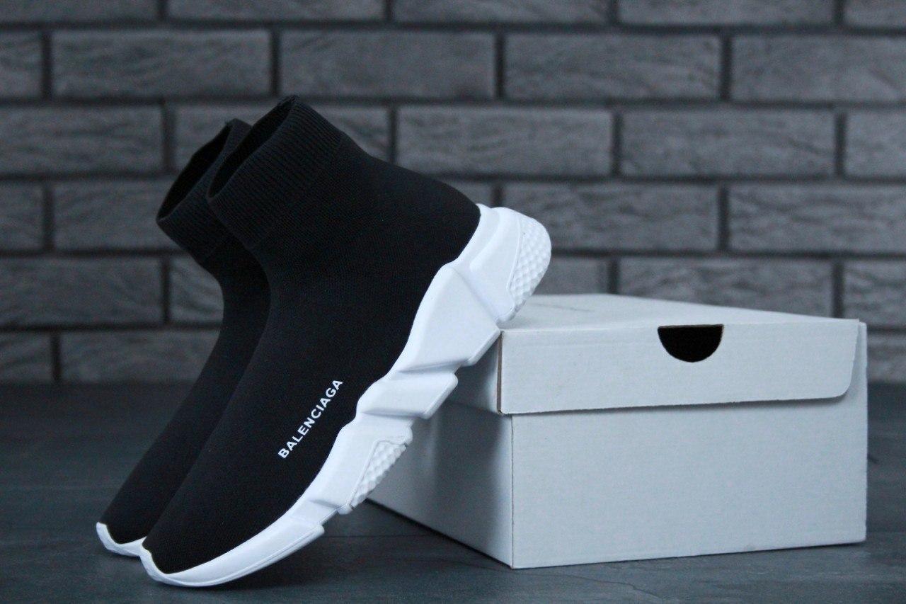 Мужские кроссовки Balenciaga (Черно-белые)
