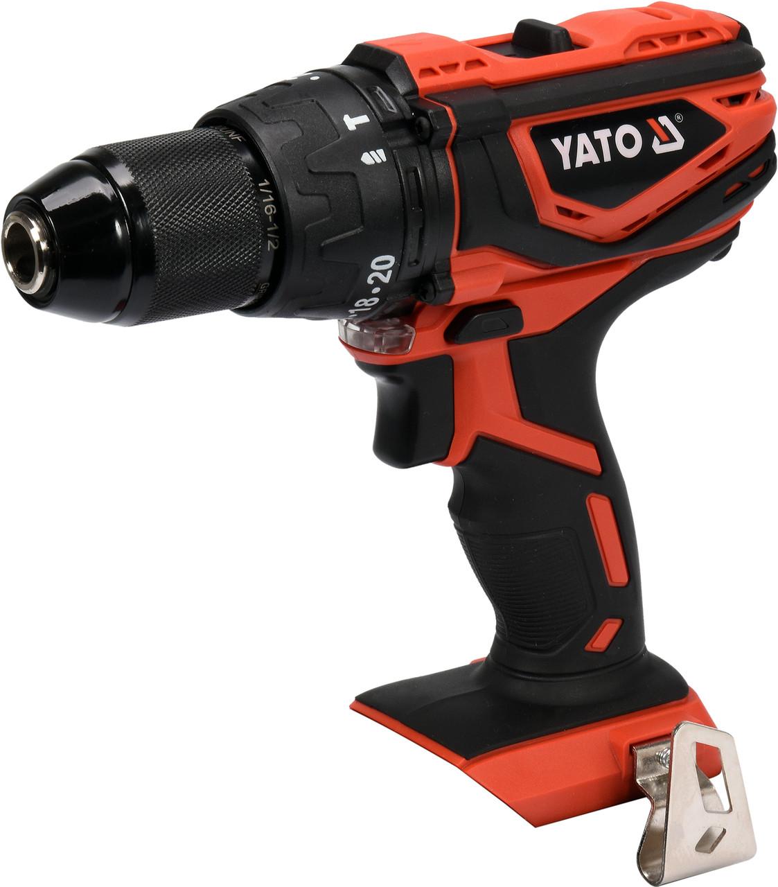 Дрель-шуруповерт аккумуляторный YATO YT-82789