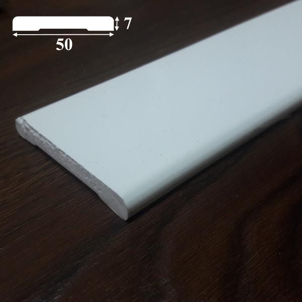 Пластиковый наличник для дверей, из ПВХ ширина 50 мм, 2,2 м Белый