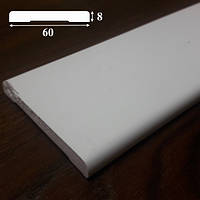 Наличник из пластика для дверей, ширина 60 м, 2,2 м Белый