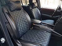 Авточехлы Накидки на сиденья автомобиля ЭКОКОЖА стандарт комплект на передние сиденья черные.