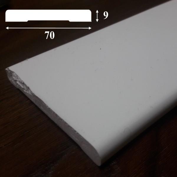 Наличник дверной из ПВХ, ширина 70 мм, 2,2 м, Белый