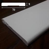 Наличник дверной из ПВХ, ширина 70 мм, 2,2 м, Белый, фото 1