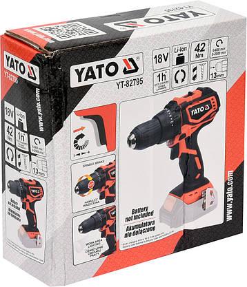 Дрель-шуруповерт аккумуляторный YATO YT-82795, фото 2