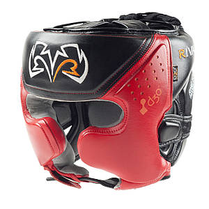 Боксерський шолом RIVAL RHG10 Intelli-Shock Pro Training Headgear чорний/ червоний, L