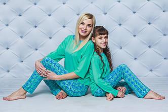 Пижама со штанами для девочки мята