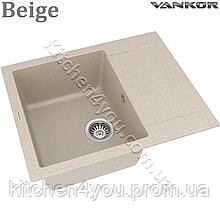 Гранитная мойка VANKOR Orman OMP 02.61 (610х495 мм.) + смеситель и доставка в подарок!
