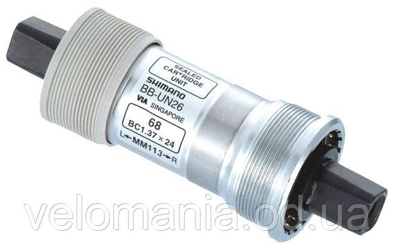 Каретка BB-UN26-E BSA 68x122.5мм, 1.37Х24, +2,5мм шайба, без болтів, фото 2