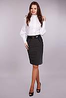 Строгая модель женской офисной юбки КРИСТИНА  относиться к деловому стилю.   ( В.О.Г.)