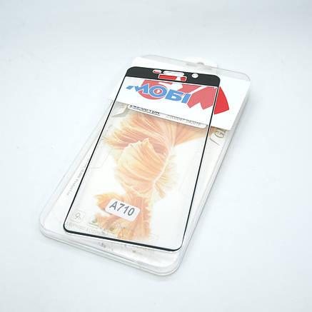 Защитное стекло Samsung Galaxy A710 3D metal black, фото 2