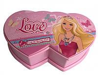 """Музична скринька у формі серця з балериною """"Барбі"""""""
