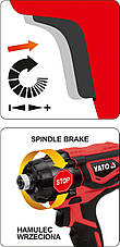 Шуруповерт акумуляторний ударний YATO YT-82801, фото 2