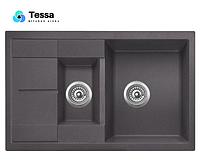 Мойка кухонная гранитная Tessa Emeli black 42002