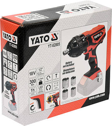 Гайковерт ударный аккумуляторный YATO YT-82805, фото 2
