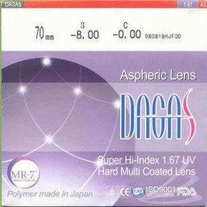 Оптическая линза Dagas 1.67