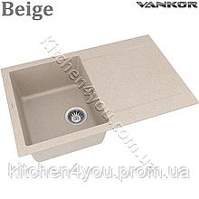 Гранітна мийка VANKOR Orman OMP 02.78 (780х495 мм.) + змішувач і доставка в подарунок!