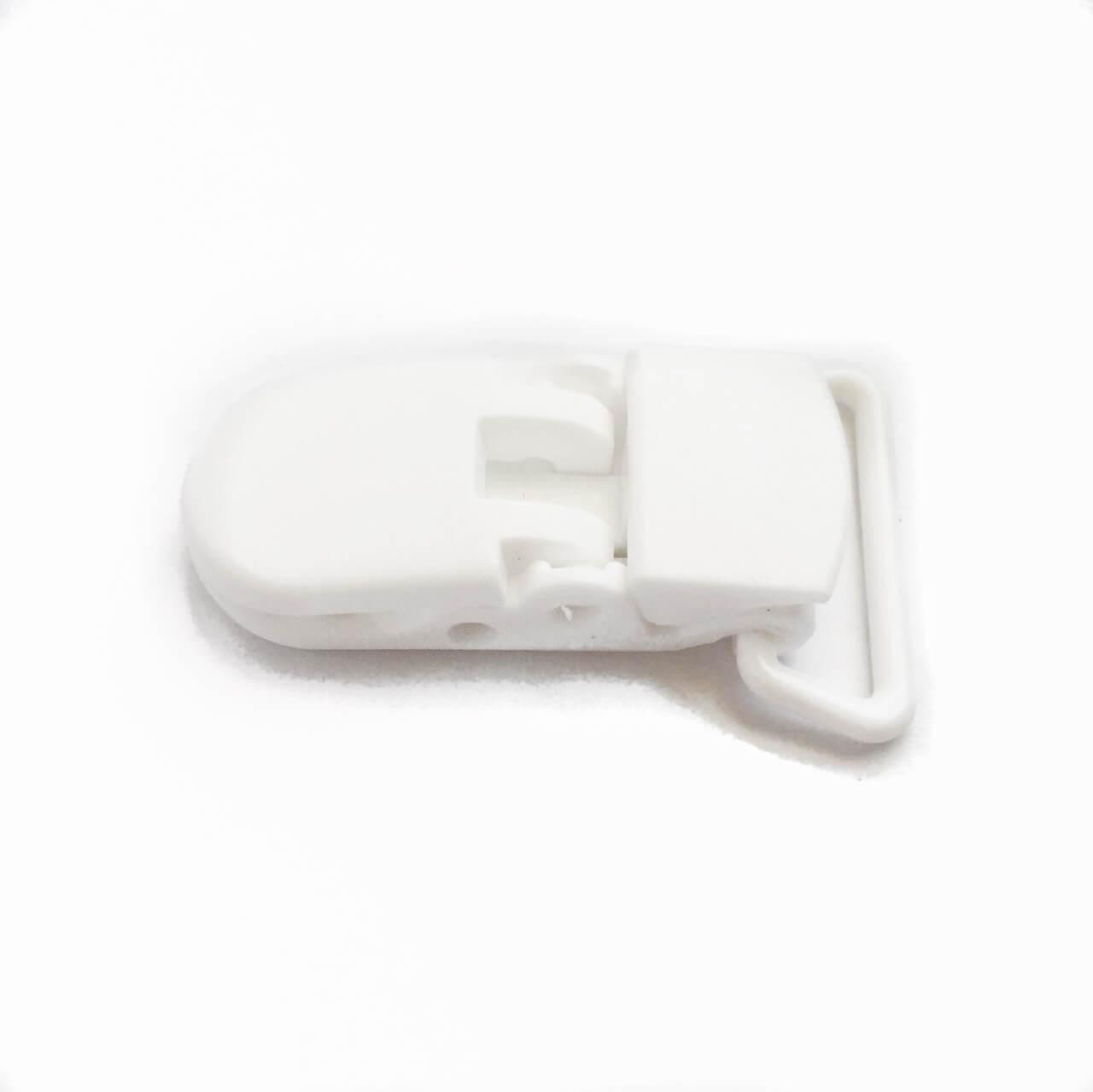 Кліпса пластикова для пустушки, біла