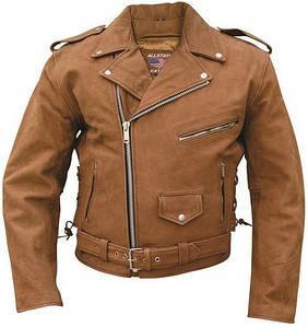 Куртка мужская кожа буйвола Mens Brown Motorcycle Jacket Premium Buffalo Leather 46/48