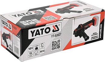 Шлифмашина угловая аккумуляторная 125мм YATO YT-82827, фото 2